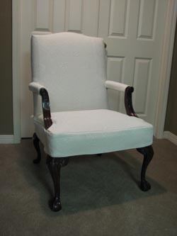 french chair slipcover