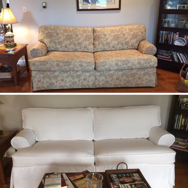 Jennifers Custom Slipcovers Before And After Slipcovers