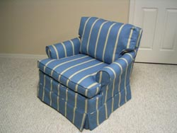 parsons chair after new slipcover