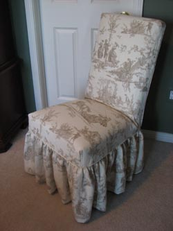 ruffled parsons chair slipcover